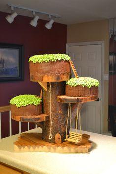 T cakes: Treehouse Cake