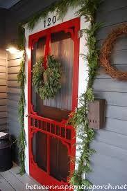 christmas blue door entryway decorating ideas - Google Search