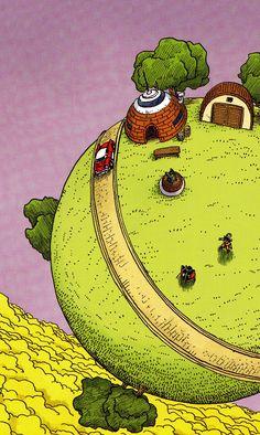 King Kai's Planet by Akira Toriyama