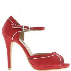 Bombas abierta rojo de la mujer zapatos mujer 11 cm y plataforma