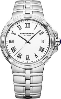 Shop Abt for the Raymond Weil Parsifal Stainless Steel Quartz Silver White Dial Watch - Find the best Raymond Weil Mens Watches and more at Abt. Rolex Watches, Watches For Men, Luxury Watches, Raymond Weil, Diy Bracelets Easy, Audemars Piguet, Mens Gift Sets, Stainless Steel Bracelet, Women's Accessories