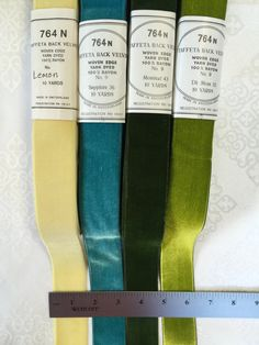 Vintage Velvet Ribbons. Made in Switzerland. Narrow Ribbons, Gift Wrap Ribbons, Holiday Ribbons.Sold by 9 yard. by AnafrezNotions on Etsy