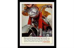 HONDA moto Ad impression «poussins» publicité Vintage Wall Art déco