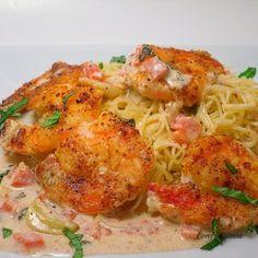 Shrimp Scampi recipe....The best I ever tasted! Served with grilled aspaagus...Superb!