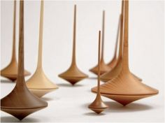 """hand made wooden spinning top"""