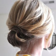 cute, simple up-do
