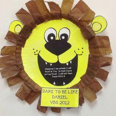 Daniel and the lion's den craft - 2-3YO/preschoolers