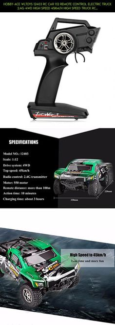 Hobby-Ace WLtoys 12403 RC Car 1:12 Remote Control Electric Truck 2.4G 4WD High Speed 45km/h High Speed Truck RC Buggy Off Road Vehicle Car Radio control #1 #plans #12 #fpv #parts #camera #shopping #products #racing #technology #tech #kit #drone #gadgets #wltoys
