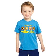 Toddler Boys The Beatles Light Blue Rock Band T-Shirt