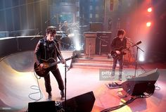 Black Rebel Motorcyle Club performs on Fuel Tv's 'The Daily Habit' on February 19, 2010 in Los Angeles, California.