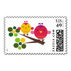 love birdies postage stamps
