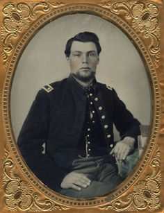 Half Plate Ambrotype of A Civil War Officer | eBay