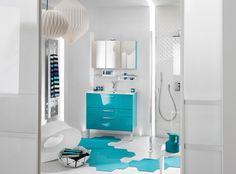 Pour Dynamiser La #déco, Utilisez Des #couleurs éclatantes Comme Ce #bleu  émeraude. La SalleSalle De Bains ...