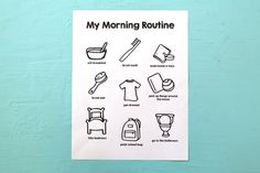 A printable morning routine chart to help get mornings started easily and efficiently. Included is three different ways to use the chart too! Morning Routine Chart, Kids Routine Chart, Toddler Routine, Morning Routines, Daycare Forms, Home Daycare, Calendar Notes, Advent Calendar, Family Schedule