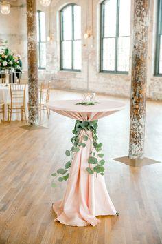 Classic Charleston Wedding At The Cedar Room - Hochzeit rosa/creme/hellgrün - Wedding Table Decorations, Wedding Centerpieces, Stage Decorations, Tall Centerpiece, Wedding Dj, Wedding Ideas, Wedding Mandap, Wedding Stage, Wedding Receptions