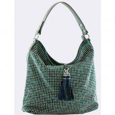 Teal Hobo Shoulder Bag
