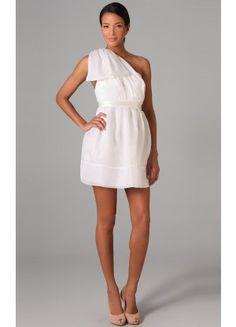 Amazing One Shoulder Sleeveless Mini Chiffon Column Cocktail Dresses - Wedding Dresses