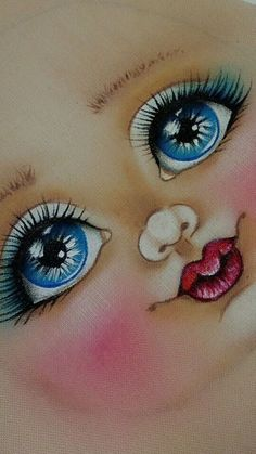 transferable baby face on fabric paint images - Yahoo Image Search Results Eye Painting, Doll Painting, Fabric Painting, Fabric Dolls, Paper Dolls, Doll Face Paint, Tole Painting Patterns, Cartoon Eyes, Doll Eyes