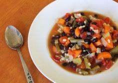 Black Bean and Barley Vegetable Soup