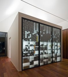 wine storage....instead of an entire room, just build it into the wall!