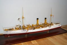 Light Cruiser SMS GAZELLE.   1900.     S 1:100