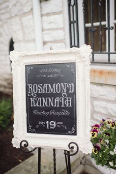we dig this chalkboard signage. like a lot  Photography By http://paperantler.com