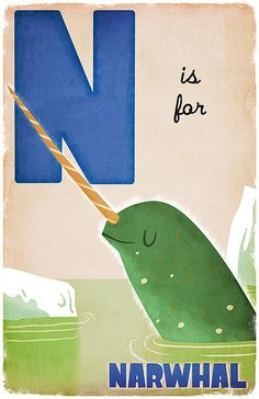 N is for Narwhal. | Flickr - Photo Sharing! Derek Sullivan.