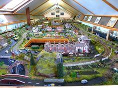 Amazing whole room #model #train #layout