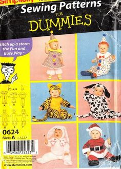 SIMPLICITY 0624 - FROM 2001 - UNCUT - TODDLERS COSTUME