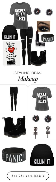 """Fob, T1P, P!atd..."" by tweetfam on Polyvore featuring Miss Selfridge, Dr. Martens and Manic Panic"
