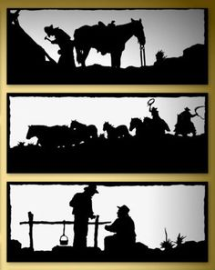 old_west_steel_silhouettes__steel-fx Skull Silhouette, Animal Silhouette, Landscape Silhouette, Plasma Table, Animal Stencil, Making Signs On Wood, Stick Art, Jar Art, Skull Painting
