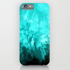 Teal - Fluid Abstract Art iPhone & iPod Case