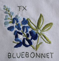 Nutbrown Cottage: The state flower quilt project - beginnings - Texas square complete