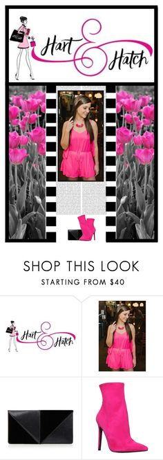 """""""Hart and Hatch Boutique (1)"""" by irresistible-livingdeadgirl ❤ liked on Polyvore featuring Oris, UN United Nude, Carvela, StreetStyle, Pink, ankleboots and boutique"""