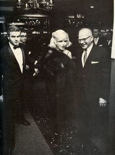 Marilyn at the Actor's Studio Benefit, Roseland Ballroom, NYC, March 13th 1961.
