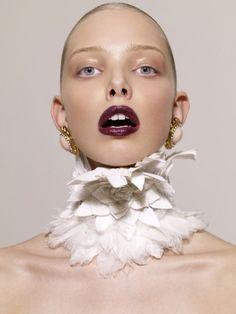 Neck piece #art #feathers