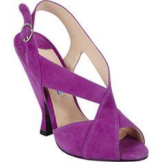 Prada Asymmetrical Slingback Sandals