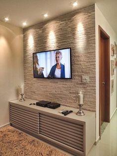 Reforma - cantinho moderno e aconchegante .  Detalhe para o revestimento em pedras brutas para o interior da casa .