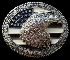 AMERICAN USA FLAG OLD GLORY STARS STRIPES BALD EAGLE BELT BUCKLE BOUCLE CEINTURE #americaneagle #baldeagle #eagle #americanflag #beltbuckle