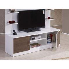 Alpino Tv Ünitesi - Opak Beyaz / Duman Meşe