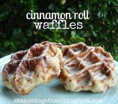 shaken together: {try this} cinnamon roll waffles