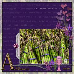A is for Asparagus by DogArtist. Kits: Love Birds by Meryl Bartho http://scrapbird.com/designers-c-73/k-m-c-73_516/meryl-bartho-c-73_516_522/love-birds-page-kit-p-17579.html AND Shared Happiness by Elizabeth MC http://scrapbird.com/designers-c-73/d-j-c-73_515/elizabeths-market-cross-c-73_515_513/shared-happiness-kit-p-17535.html
