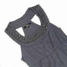 Forever 21 Gray Scoop Neck Top - Size S Forever 21 Gray Scoop Neck Top - Size S Like new; worn only once! Size zipper for awesome fit.  100% polyester.  Label brand reads Black, but it was purchased at Forever21. Forever 21 Tops