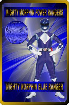 Mighty Morphin Blue Ranger by rangeranime on Power Rangers 1995, Power Rangers Fan Art, Power Rangers In Space, Go Go Power Rangers, Power Rengers, Mighty Morphin Power Rangers, Martial Arts, Captain America, Movie Tv