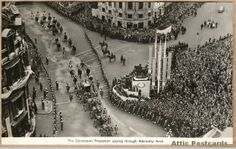 Queen Elizabeth's Coronation Procession passing through Admiralty Arch