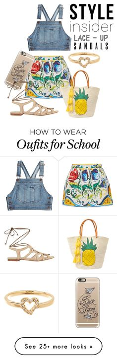 """""""Lace-up sandals"""" by stellacolor21 on Polyvore featuring Dolce&Gabbana, Casetify, Moschino, Sensi Studio, Lana, contestentry, laceupsandals and PVStyleInsiderContest"""