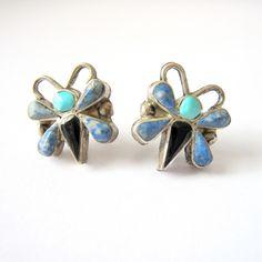 Blue Butterfly Studs - Beyond Buckskin Boutique
