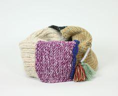 パッチワーク ニット スヌード (ホワイト) / Patchwork knit snood - SIAMESE (サイアミーズ) オンラインセレクトショップ