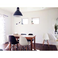 aroomさんの、照明,観葉植物,カフェ風,IKEA,イームズチェアリプロダクト,イームズ,部屋全体,のお部屋写真
