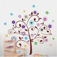 Cheap tree wall decal, Buy Quality wall decals directly from China sticker tree Suppliers: Large Wall Paper Decorative Flower Wall Stickers Tree Wall Decal for Kids Nursery Rooms Home Decoration Wall Art Decor Adesivo